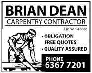Brian Dean Carpentry Contractor