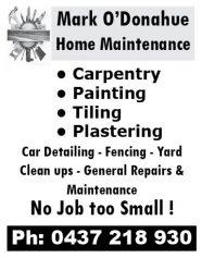 Mark O'Donahue Home Maintenance