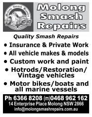 Molong Smash Repairs